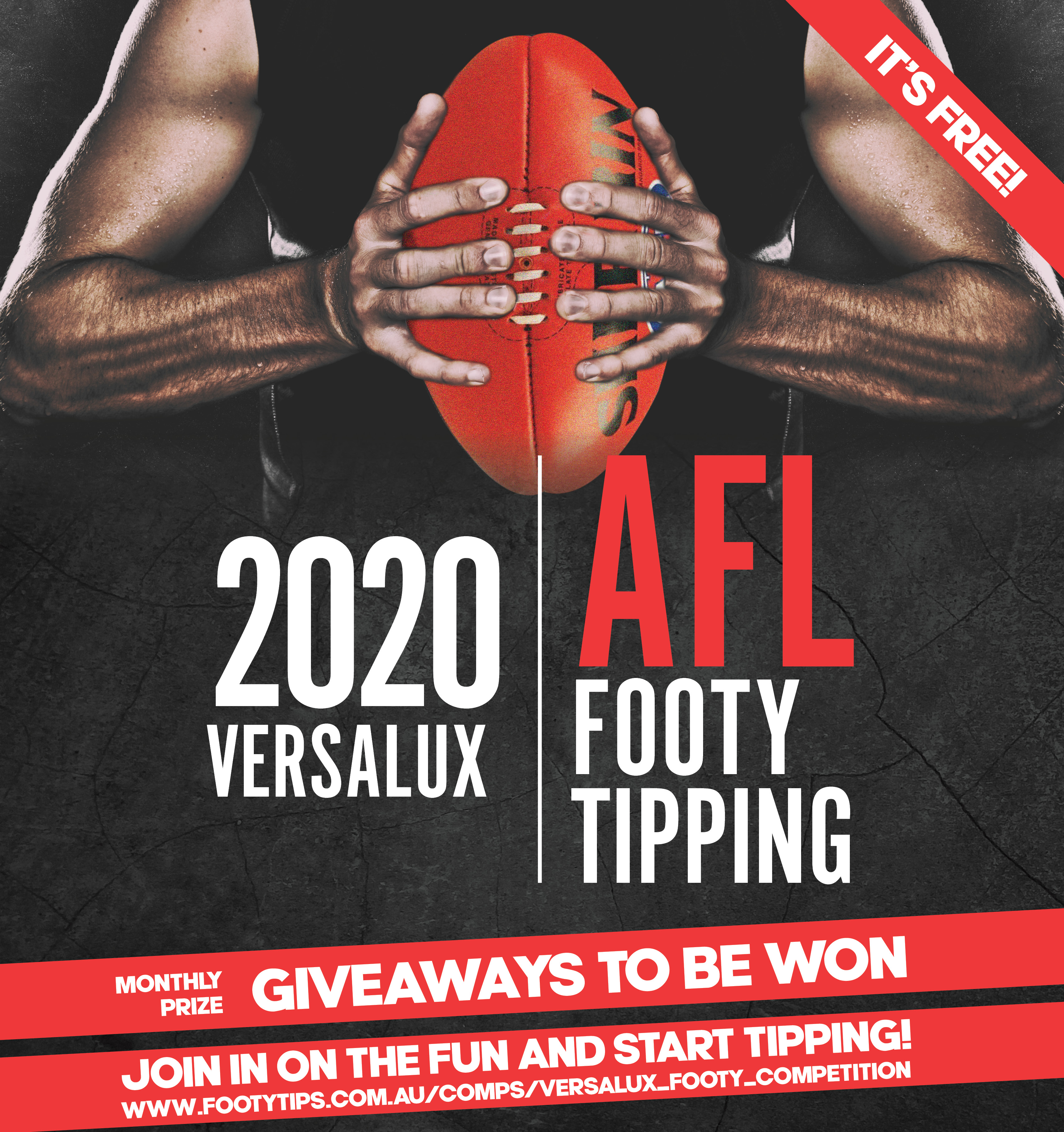 2019 Versalux Footy tipping edm image