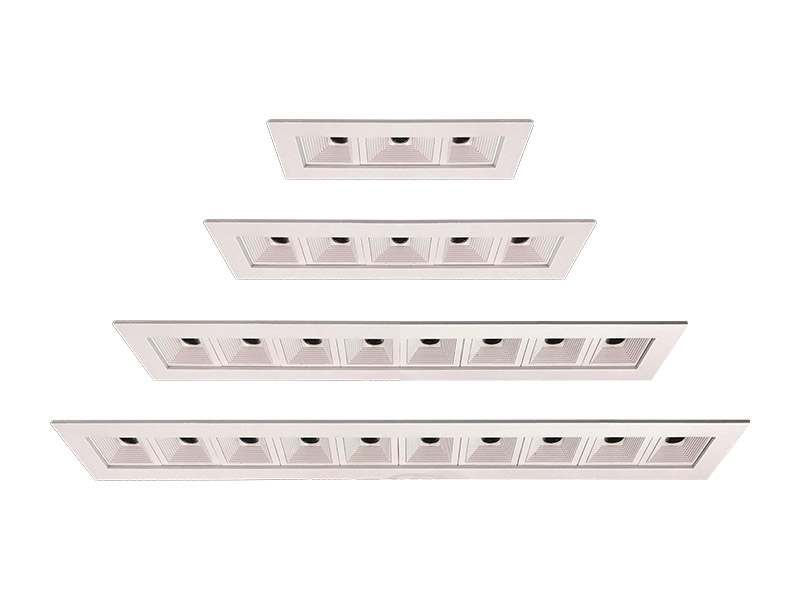V1 MULTI standard configurations of 1x3, 1x5, 1x8, and 1x10 optical elements